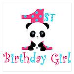 1st Birthday Girl Panda Bear Invitations