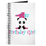 1st Birthday Girl Panda Bear Journal