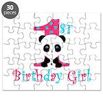 1st Birthday Girl Panda Bear Puzzle