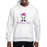 1st Birthday Girl Panda Bear Hoodie