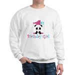 1st Birthday Girl Panda Bear Sweatshirt