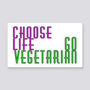 Choose life. Go vegetarian - Rectangle Car Magnet