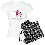 1st Birthday Girl Cow Pajamas