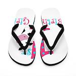 1st Birthday Girl Cow Flip Flops