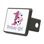 1st Birthday Girl Cow Hitch Cover