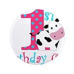 1st Birthday Girl Cow 3.5
