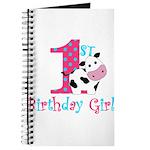 1st Birthday Girl Cow Journal