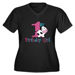 1st Birthday Girl Cow Plus Size T-Shirt