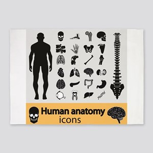 Human Anatomy 5'x7'Area Rug