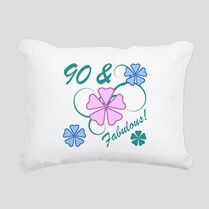 Fabulous 90th Birthday Rectangular Canvas Pillow