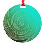 Teal Swirl Ornament