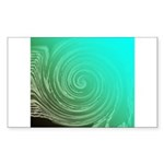Teal Swirl Sticker