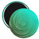 Teal Swirl Magnets