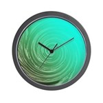 Teal Swirl Wall Clock