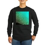 Teal Swirl Long Sleeve T-Shirt