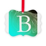 Personalizable Inital on Teal Ornament