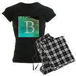 Personalizable Inital on Teal Pajamas