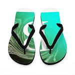 Personalizable Inital on Teal Flip Flops