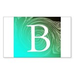 Personalizable Inital on Teal Sticker