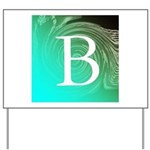 Personalizable Inital on Teal Yard Sign