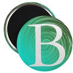 Personalizable Inital on Teal Magnets