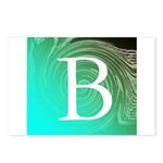 Personalizable Inital on Teal Postcards (Package o