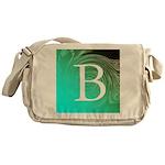 Personalizable Inital on Teal Messenger Bag