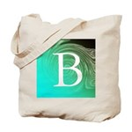 Personalizable Inital on Teal Tote Bag