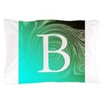 Personalizable Inital on Teal Pillow Case