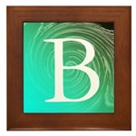 Personalizable Inital on Teal Framed Tile