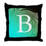 Personalizable Inital on Teal Throw Pillow