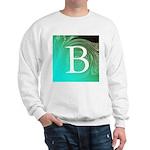 Personalizable Inital on Teal Sweatshirt