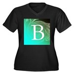 Personalizable Inital on Teal Plus Size T-Shirt