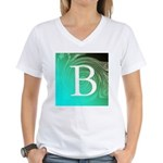 Personalizable Inital on Teal T-Shirt