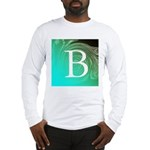 Personalizable Inital on Teal Long Sleeve T-Shirt