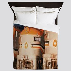 Train Engines Queen Duvet