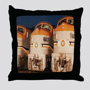 Train Engines Throw Pillow