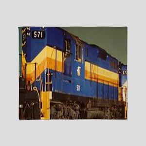 Train Engine Throw Blanket