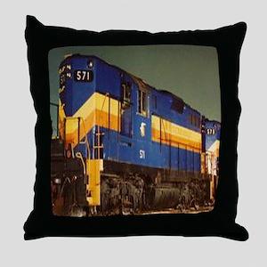 Train Engine Throw Pillow