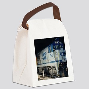 Train Engine Canvas Lunch Bag