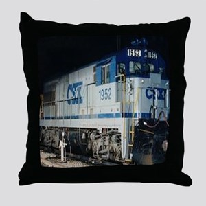 Train Engine Throw Pillow
