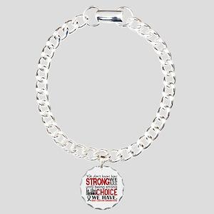 Skin Cancer HowStrongWeA Charm Bracelet, One Charm