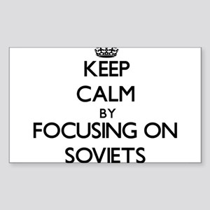 Keep Calm by focusing on Soviets Sticker