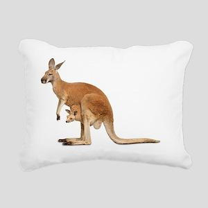kangaroo Rectangular Canvas Pillow