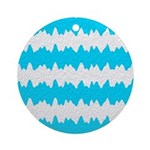 Teal Ornament (Round)