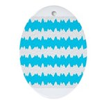 Teal Ornament (Oval)