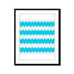 Teal Framed Panel Print
