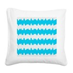 Teal Square Canvas Pillow