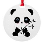 Black and White Panda Bear Ornament