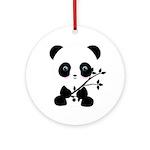 Black and White Panda Bear Ornament (Round)